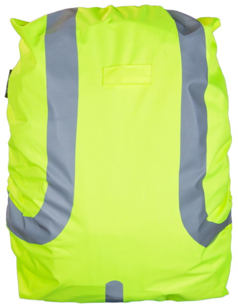 Reflektierende Rucksackhülle gelb 45L