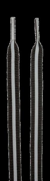 Schnürsenkel mit reflektierenden Streifen schwarz