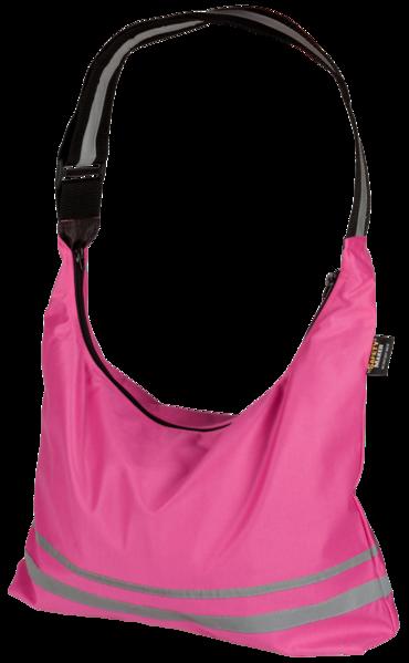 Shopping Bag mit reflektierenden Streifen pink