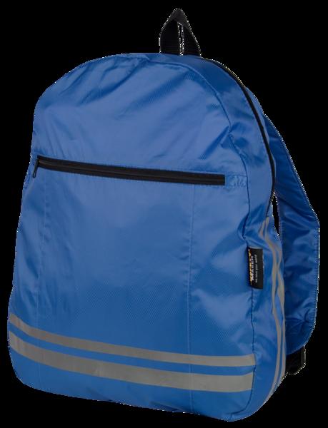 Rucksack mit reflektierenden Streifen blau
