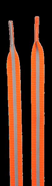 Schnürsenkel mit reflektierenden Streifen orange