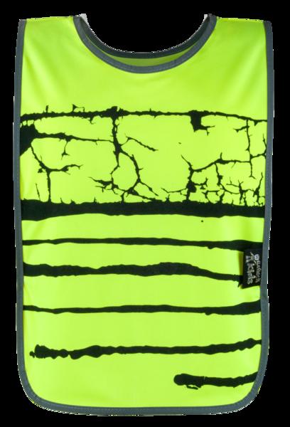 Weste mit reflektierenden Streifen gelb