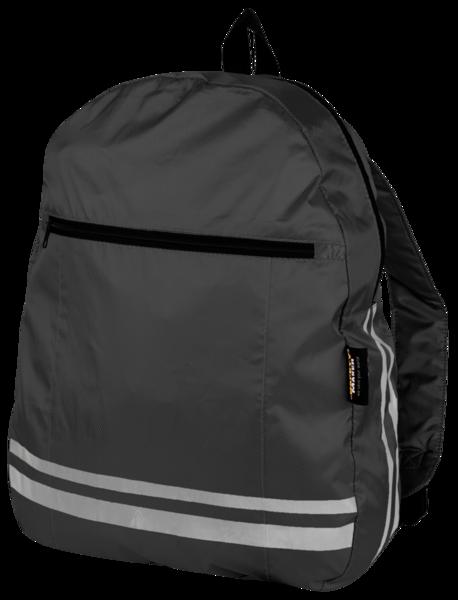 Rucksack mit reflektierenden Streifen schwarz