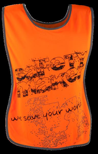 Laufweste mit reflektierenden Streifen S/M orange
